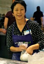 Sonoko Sakai of Common Grains prepares her hands on Soba Noodle Making session